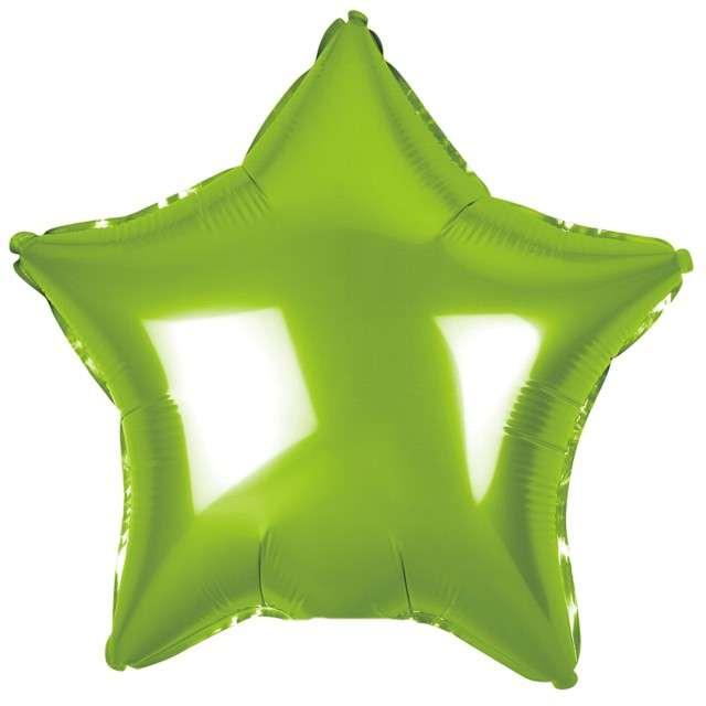 """Balon foliowy """"Gwiazda"""", zielony metalik, Godan, 19"""" STR"""