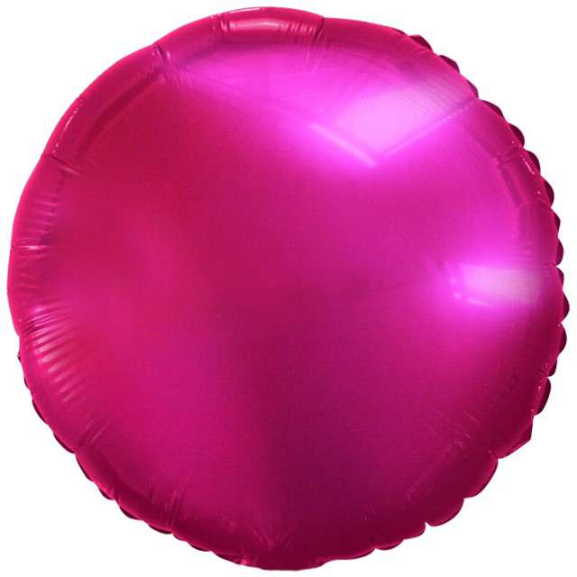"Balon foliowy ""Classic"", fuksja metalik, Godan, 18"" RND"