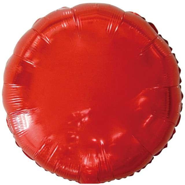 """Balon foliowy """"Classic"""", czerwony metalik, Godan, 18"""" RND"""