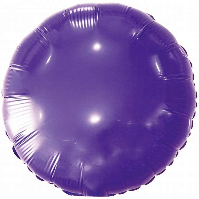 "Balon foliowy ""Classic"", fioletowy metalik, Godan, 18"" RND"