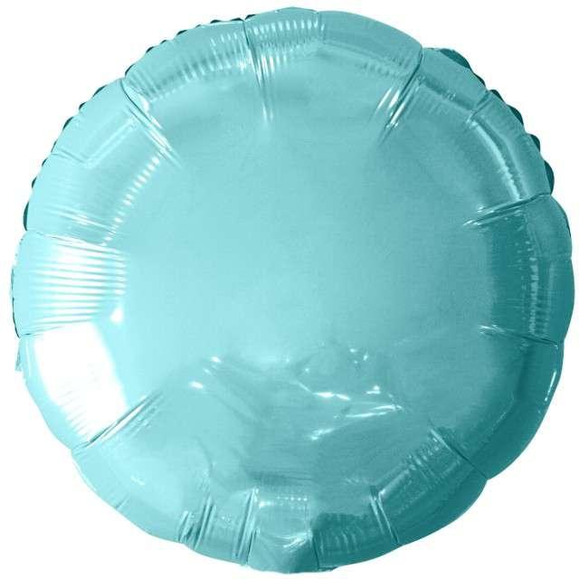 """Balon foliowy """"Classic"""", niebieski jasny metalik, Godan, 18"""" RND"""