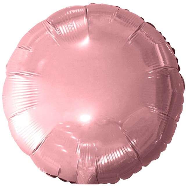 """Balon foliowy """"Classic"""", różowy jasny metalik, Godan, 18"""" RND"""