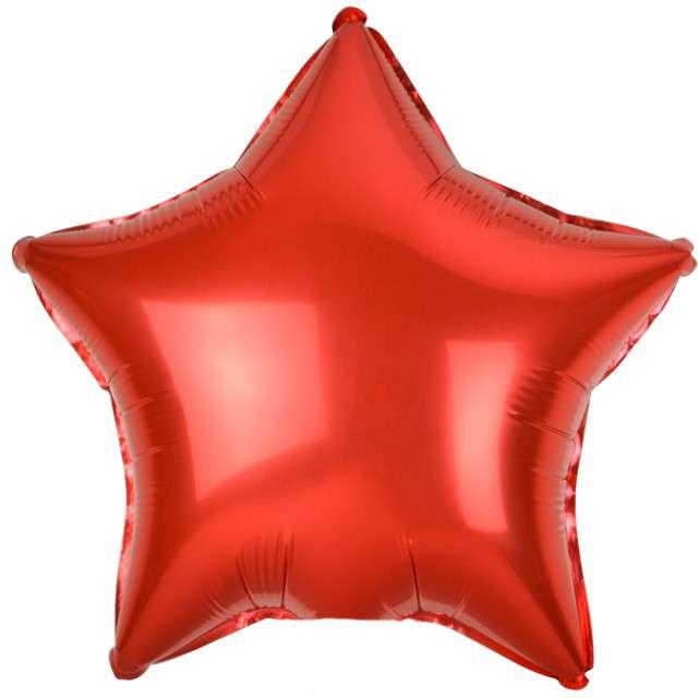 """Balon foliowy """"Gwiazda"""", czerwony metalik, Godan, 19"""" STR"""