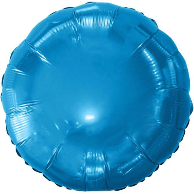 """Balon foliowy """"Classic"""", niebieski metalik, Godan, 18"""" RND"""