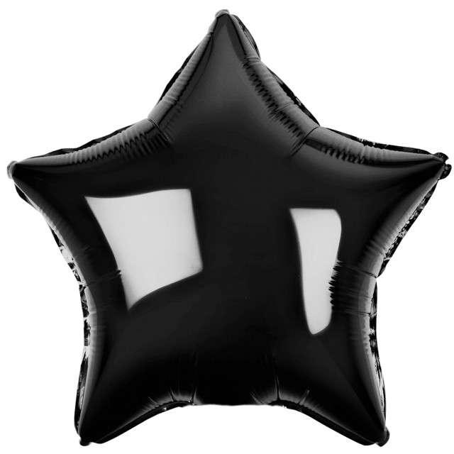 """Balon foliowy """"Gwiazda"""", czarny metalik, Godan, 19"""" STR"""