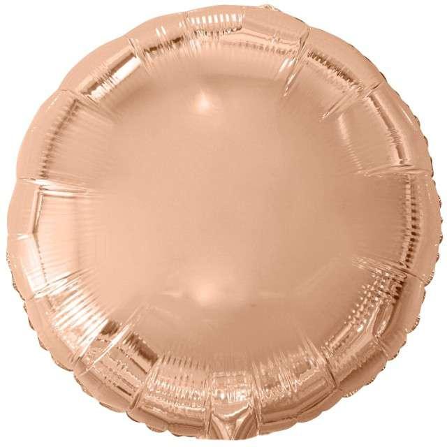 """Balon foliowy """"Classic"""", różowe złoto metalik, Godan, 18"""" RND"""