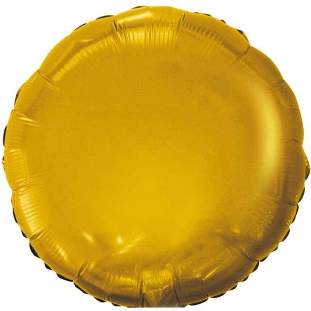 """Balon foliowy """"Classic"""", złoty satynowy, Godan, 18"""" RND"""