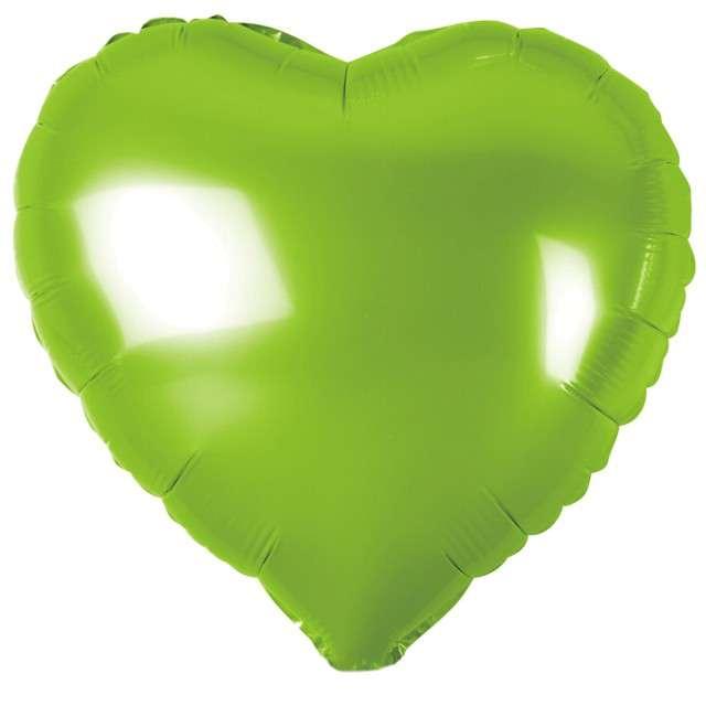 """Balon foliowy """"Serduszko"""", zielony metalik, Godan, 18"""" HRT"""