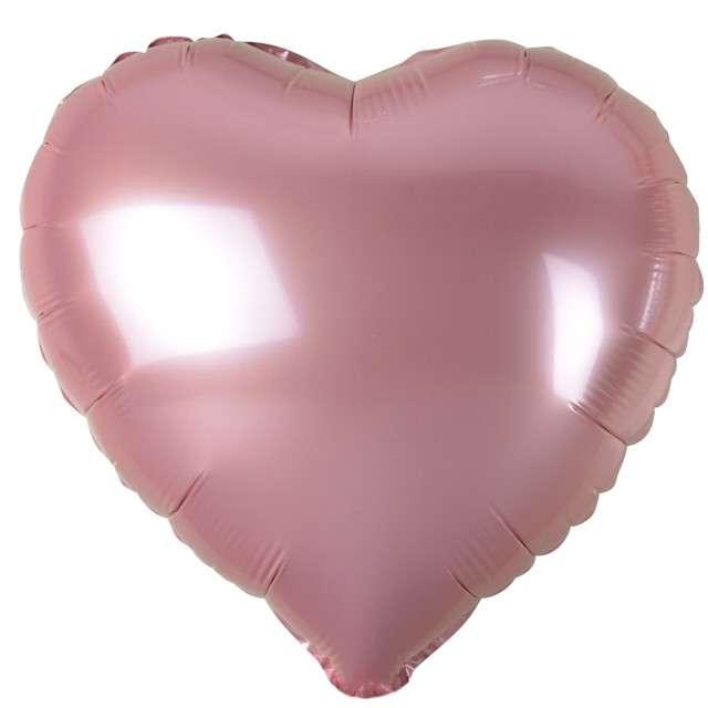"""Balon foliowy """"Serduszko"""", różowy jasny metalik, Godan, 18"""" HRT"""