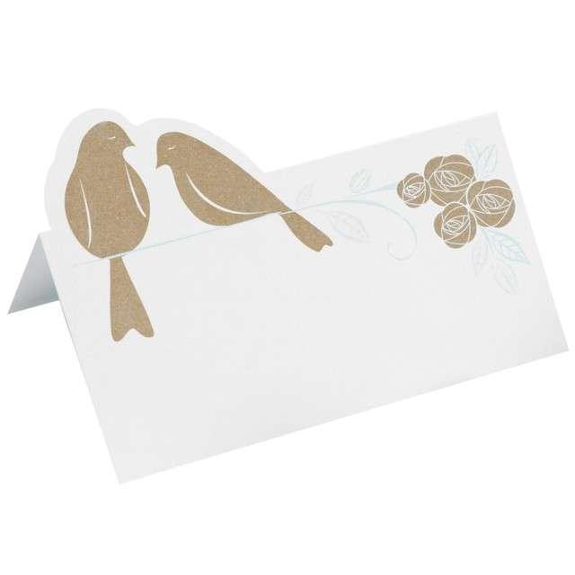 Wizytówka na stół Kraftowe Gołębie Ginger Ray 10szt