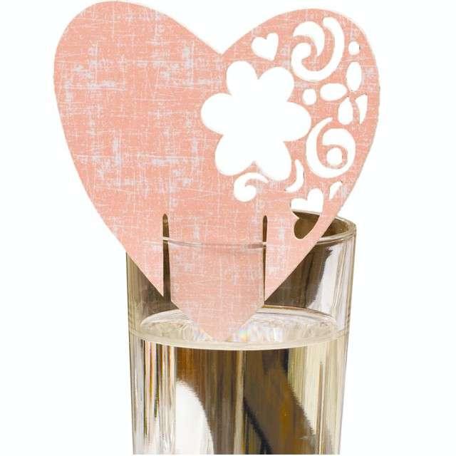 _xx_Karnety na kieliszki With Love różowe 10 szt.