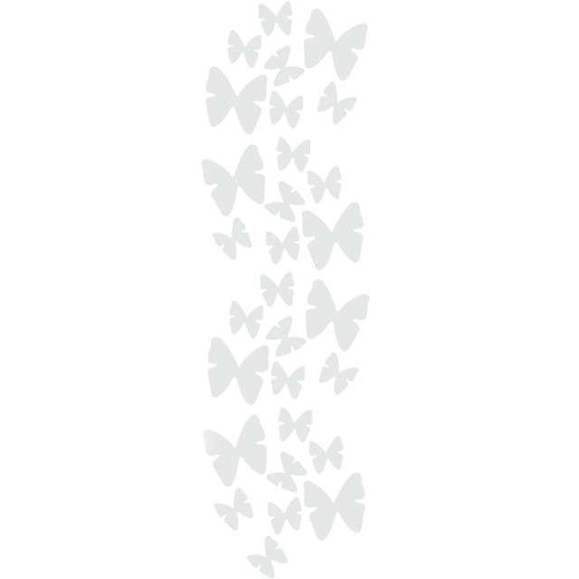 Tuba strzelająca konfetti Motyle białe Godan 60 cm