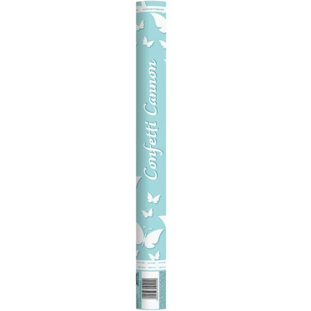 Tuba strzelająca konfetti Motyle białe Godan 60cm