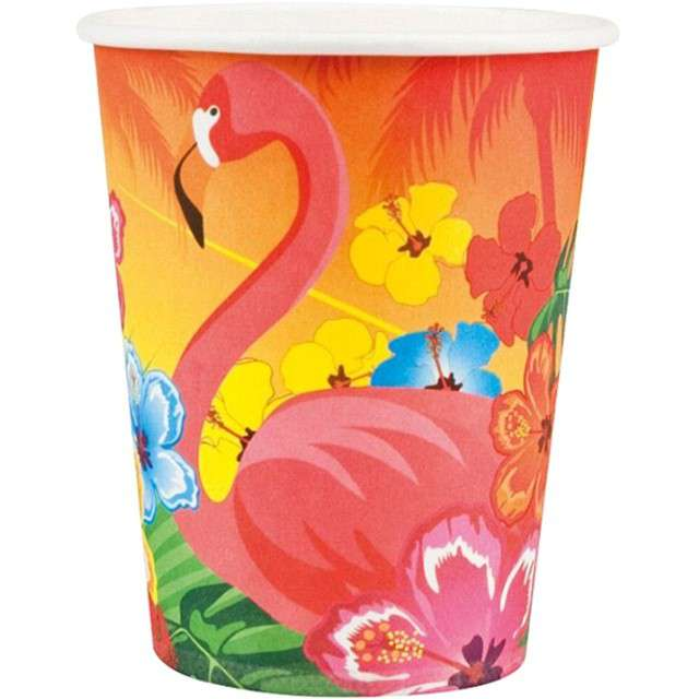 "Kubeczki papierowe ""Hibiscus"", Boland, 250 ml, 6 szt."
