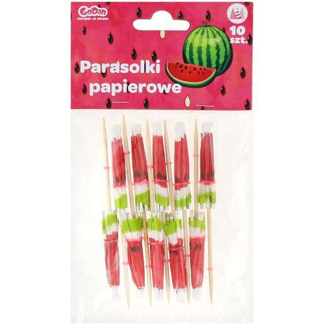 Parasolki papierowe Słodki arbuz Godan 10 szt