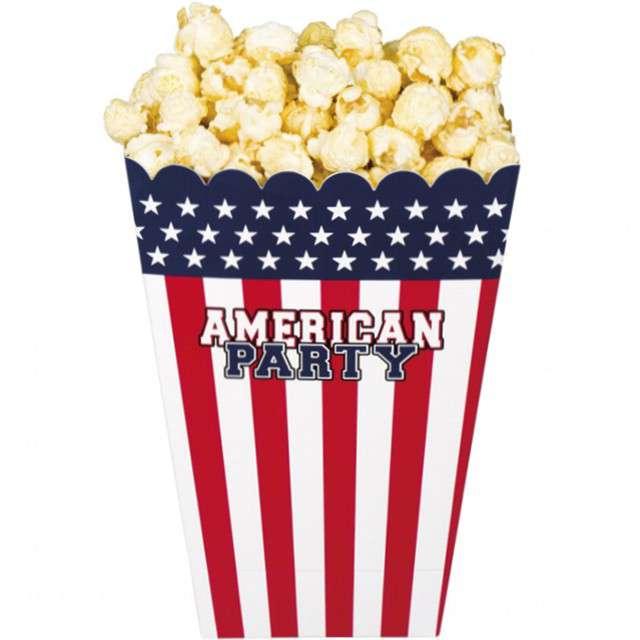 "Pudełko na popcorn ""USA - American Party"", Boland, 4 szt"