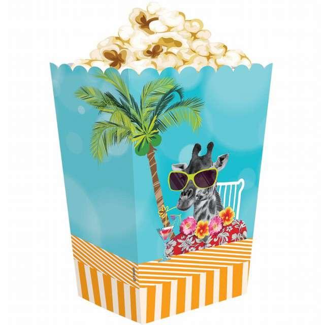 """Pudełka na popcorn """"Hawajskie Party"""", GODAN, 4 szt"""