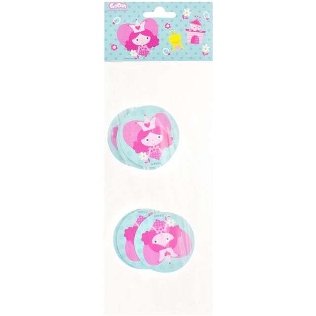 Słomki łamane wzór  Księżniczki  różowe 24 cm 6 szt.