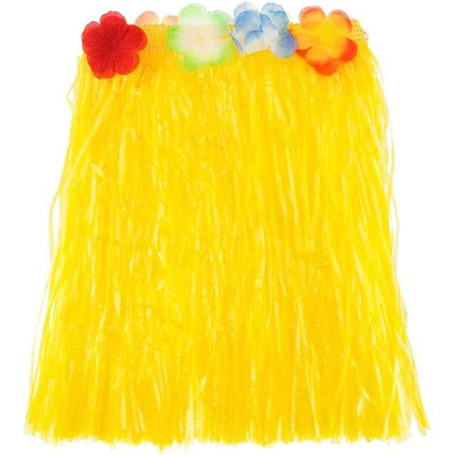 """Spódnica """"Hawajska Krótka"""", żółta, Godan, 40 cm"""