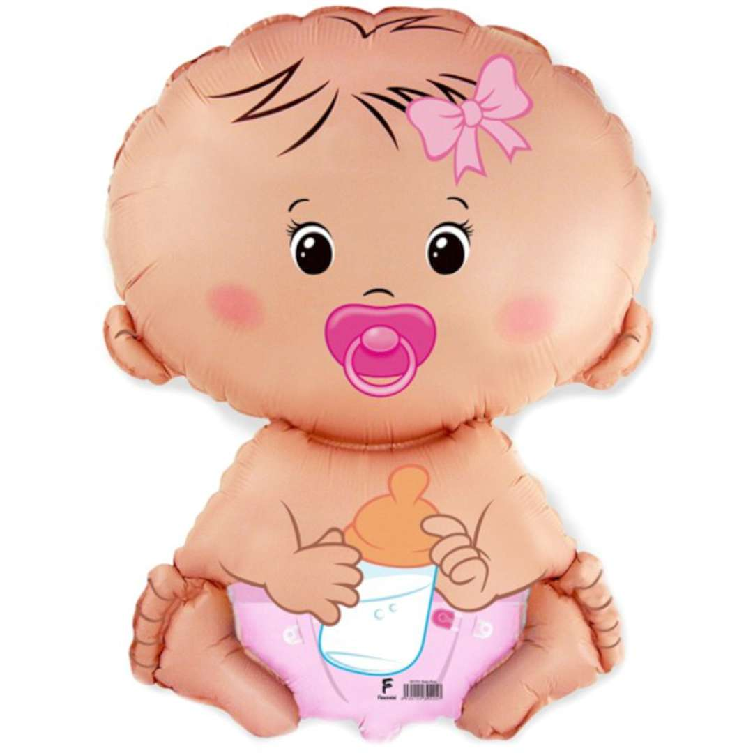 Balon foliowy Bobas Dziewczynka FLEXMETAL 14