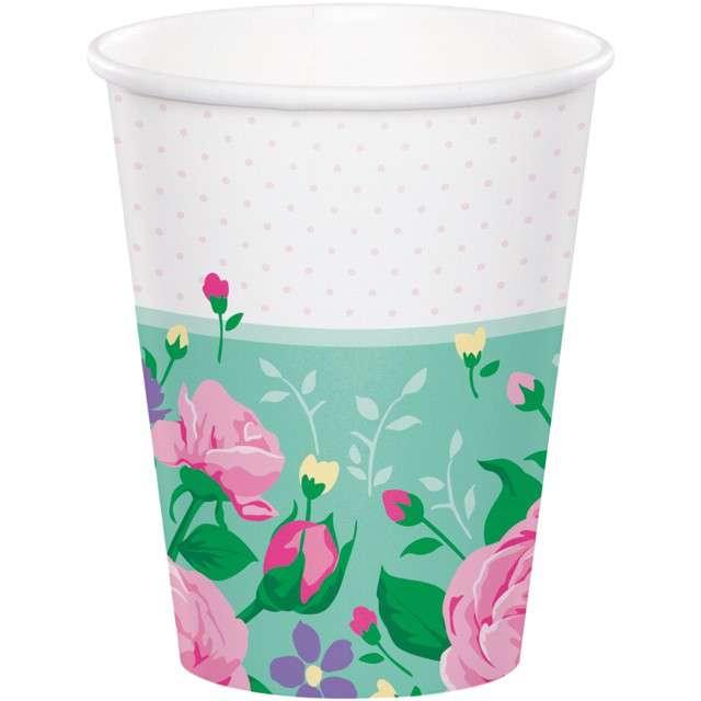 """Kubeczki papierowe """"Kwiaty - Floral Fairy"""", Godan, 266 ml, 8 szt"""