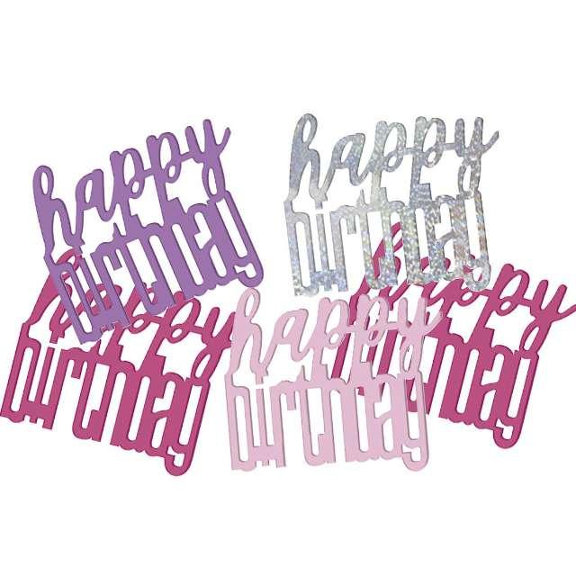 "Konfetti ""Glitz Happy Birthday"", różowo-srebrne, UNIQUE, 142 g"