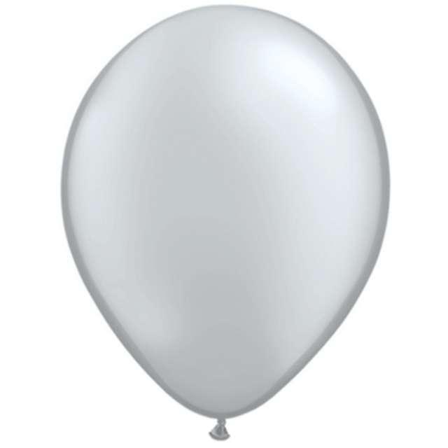 "Balony ""Classic"", srebrny metalik, QUALATEX, 11"", 25 szt"