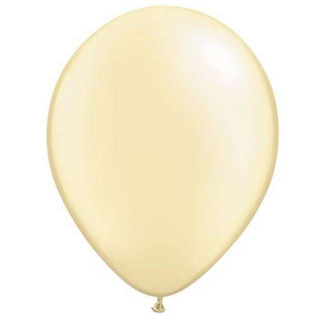"""Balony """"Classic"""", kość słoniowa metalik , QUALATEX, 11"""", 25 szt"""