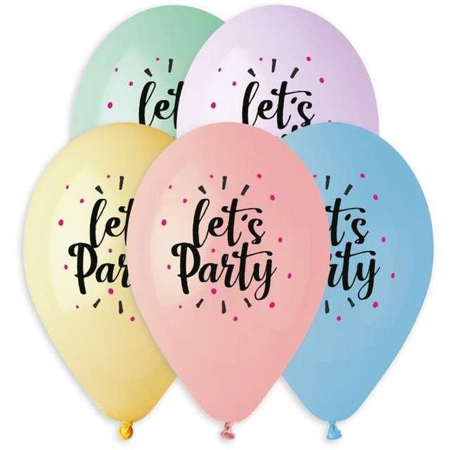 Balony Lets party 13 Gemar 5 szt.