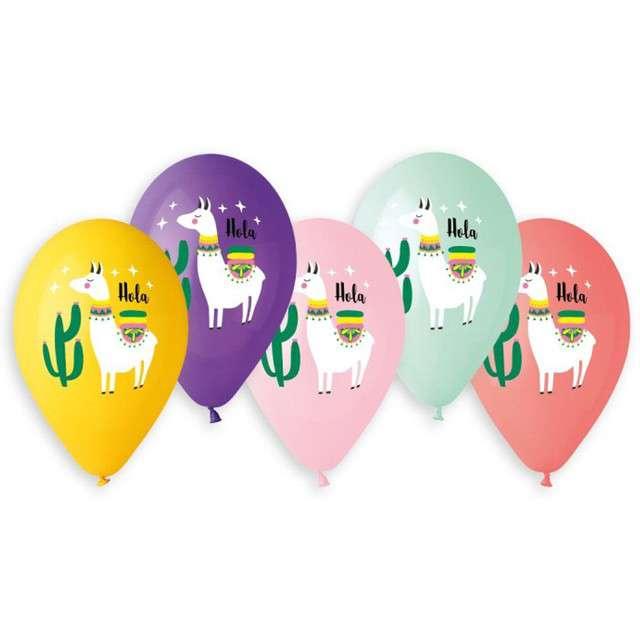 "Balony ""Lama i kaktusy"", 13"", Gemar, 5 szt."