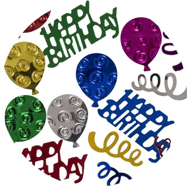 "Konfetti ""Happy Birthday - Metalowe"", mix, OOTB"