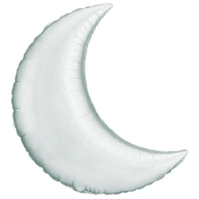 """Balon foliowy """"Księżyc"""", srebrny, QUALATEX, 35"""" SHP"""