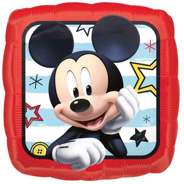 """Balon foliowy """"Mickey w kwadracie"""", Amscan, 17"""", SQR"""
