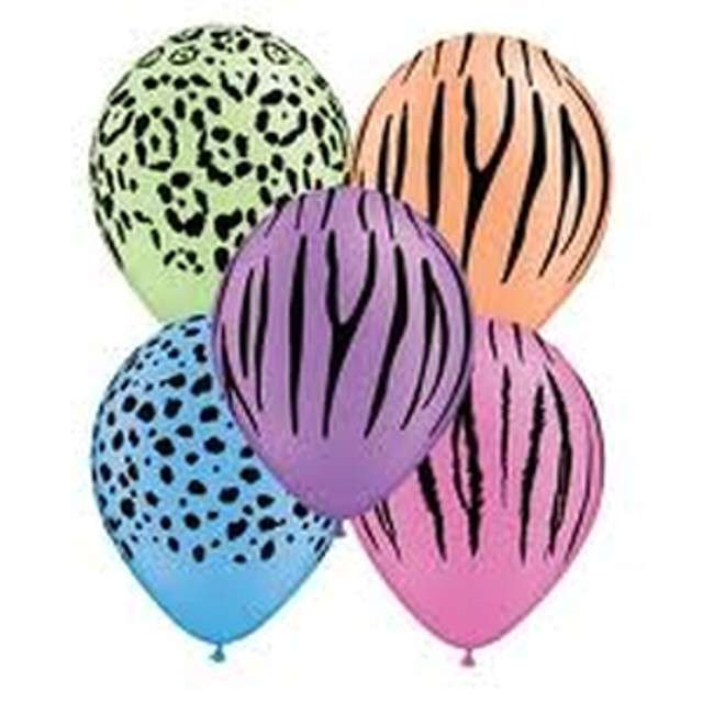 "Balony ""Safari Neon"", mix, Qualatex, 11"", 50 szt"