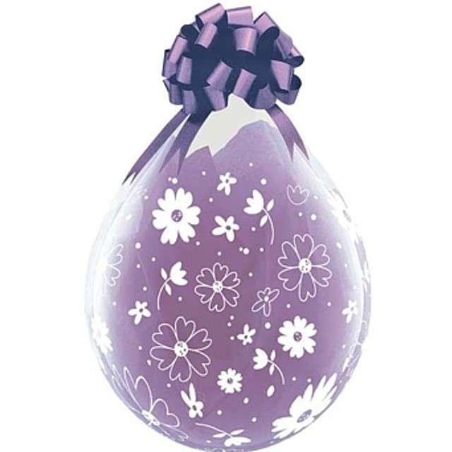 Balony Crystal - Kwiaty i Kwiatki fioletowe Qualatex 18 25szt