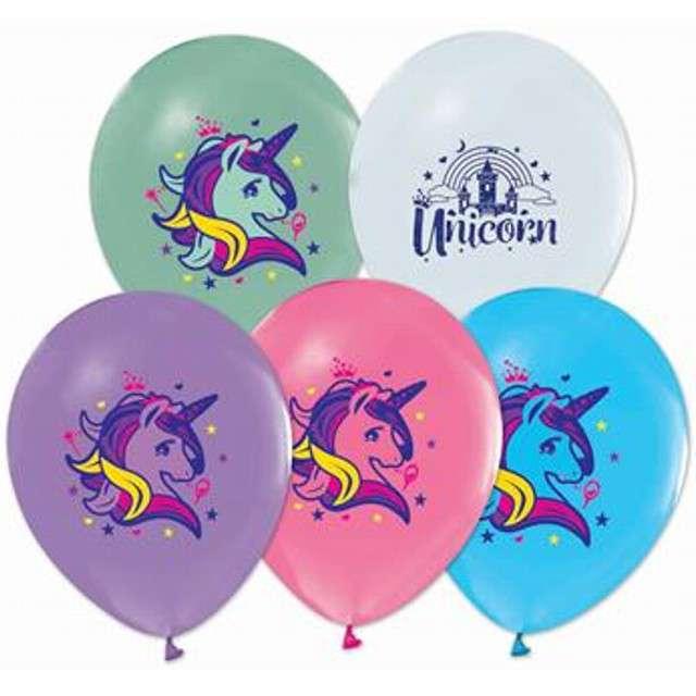 """Balony """"Helium Formula"""" jednorożce, Godan, 12"""", 5 szt."""