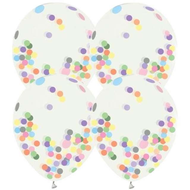 Balony Helium Formula transparentne konfetti Godan 12 4szt.