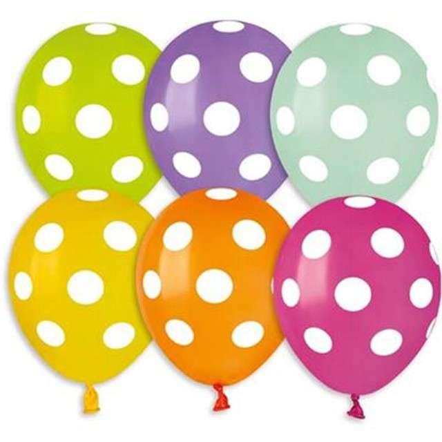 Balony Premium Grochy Gemar 5 100szt.