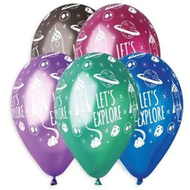 """Balony """"Kosmos"""", 13"""", Gemar, 5 szt."""