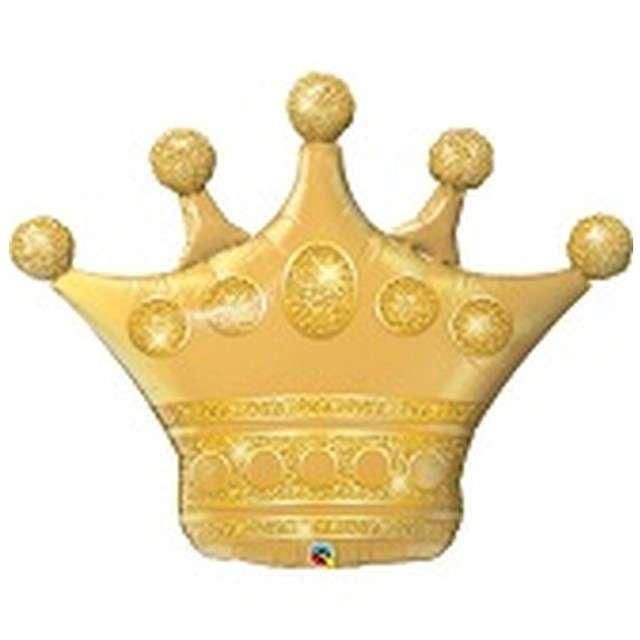 """Balon foliowy """"Korona"""", złoty, QUALATEX, 41"""" SHP"""