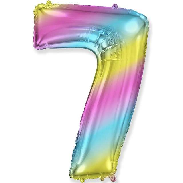 "Balon foliowy ""Cyfra 7 - Gradient"", pastelowy, FLEXMETAL, 34"""