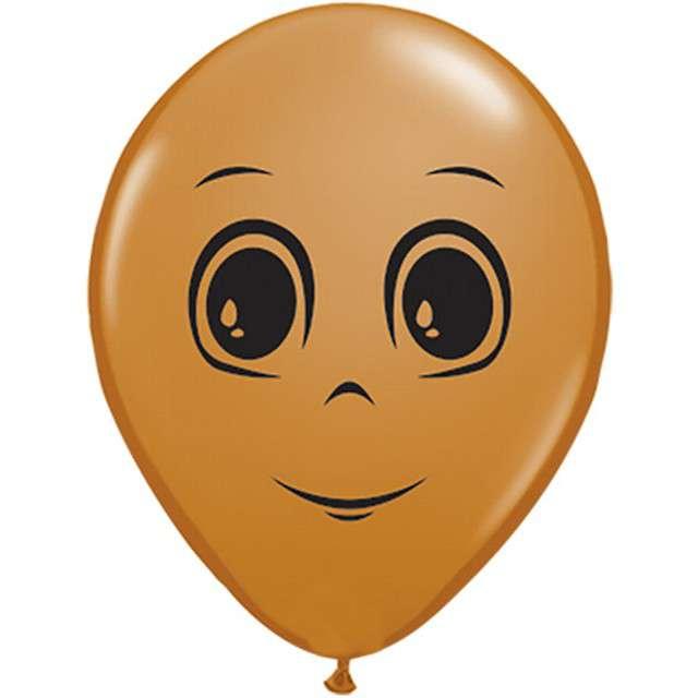 "Balony ""Twarz męska"", j. brąz, Qualatex, 6"", 100 szt."
