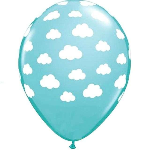 """Balony """"Chmurki"""", błękitne, Qualatex, 11"""", 25 szt"""