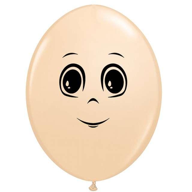 "Balony ""Twarz męska"", cielosty, Qualatex, 6"", 50 szt."