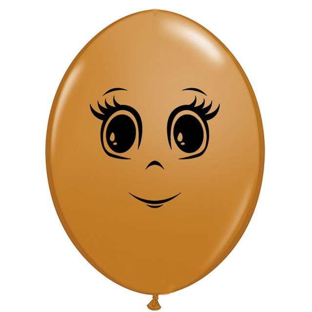 Balony Twarz kobiety jasnobrązowy Qualatex 6 50szt.