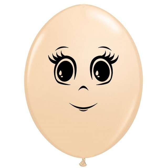 """Balony """"Twarz kobiety"""", cielisty, Qualatex, 6"""", 50 szt."""