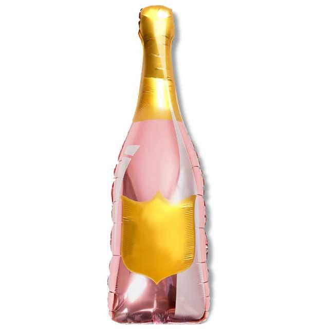 """Balon foliowy """"Butelka Szampana do wypisu"""", różowe złoto, DekoracjePolska, 41"""""""