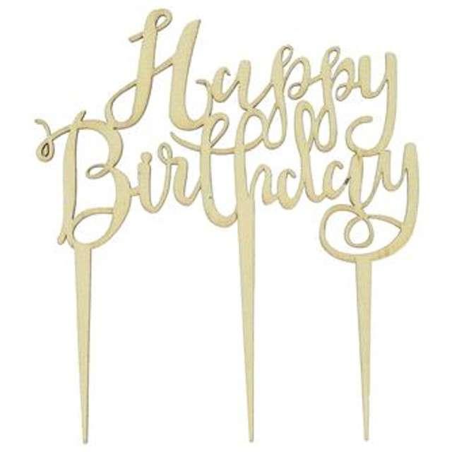 Dekoracja Topper - Happy Birthday drewno Godan