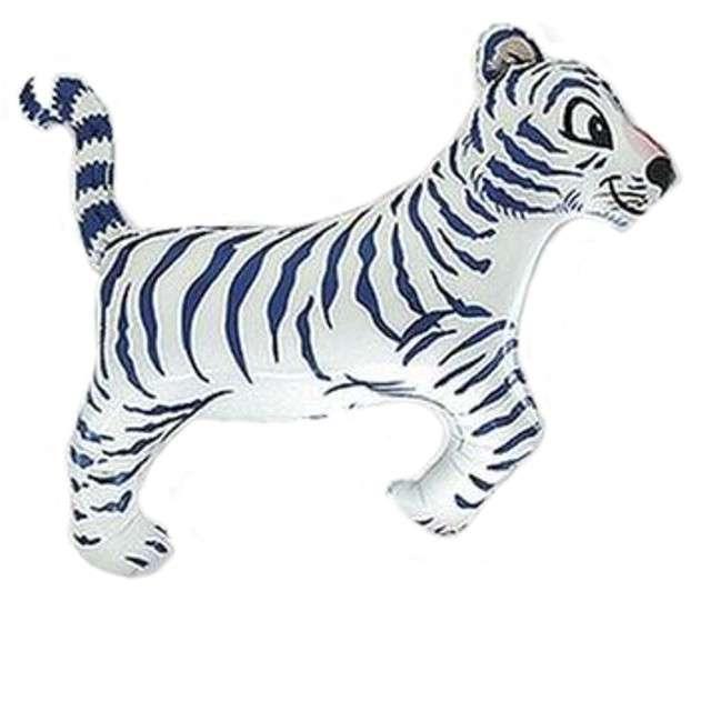 """Balon foliowy """"Tygrys Biały"""", FLEXMETAL, 14"""" SHP"""
