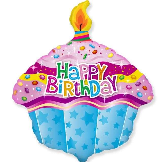 "Balon foliowy ""Muffinka - Happy Birthday"", FLEXMETAL, 24"" SHP"